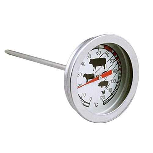 LIUYUNE,Edelstahlsonde BBQ Thermometer für Küchenfutter, Milch und Kaffee(color:SILBER)