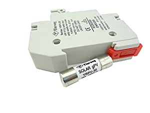 MISOL 10 units of PV solar fuse 15a 1000VDC fusible 10x38 gPV, with holder/fusible solaire