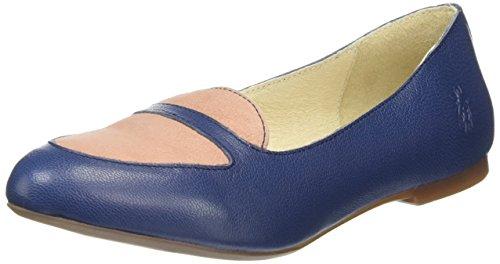 FLY London Damen Maya902fly Peep-Toe Blau (blue/rose 003)