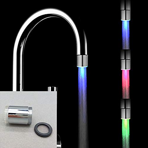 Upolymall LED Faucet Temperature Sensor 3 Colors Change...