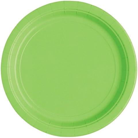 Lime Gruene 18cm de diámetro placas Party platos de papel