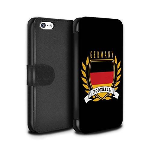 Stuff4 Coque/Etui/Housse Cuir PU Case/Cover pour Apple iPhone 5C / Brésil/Brésilien Design / Emblème Football Collection Allemagne/Allemand