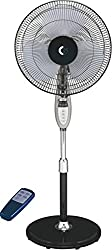 Crompton Remote Controlled High Flo Ester 400mm Pedestal Fan (Black)