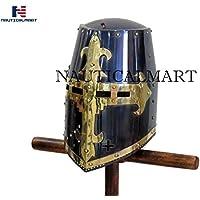 nautique Mart médiéval Chevalier Crusader casque Wearable Halloween–Noir antique