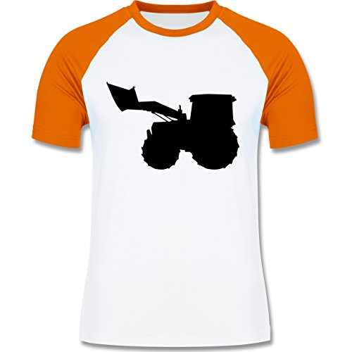 Andere Fahrzeuge - Traktor - zweifarbiges Baseballshirt für Männer Weiß/Orange
