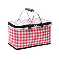 zhruiqun Large Picnic Bag for Women - Storage Basket Folding Portable Family Size Outdoor (Style 2)