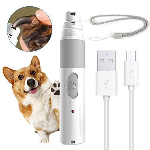 RCRuning-EU Tagliaunghie per Cani, Tagliaunghie e Smerigliatrice Elettrico per Le Unghie di Cani e Gatti con Ricarica USB