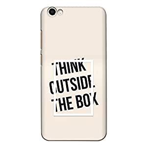 CrazyInk Premium 3D Back Cover for Vivo Y67 - Think Outside the box