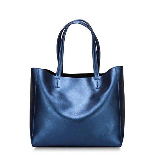 Nuova perla pelle borsa a tracolla borsa Messenger , treasure blue