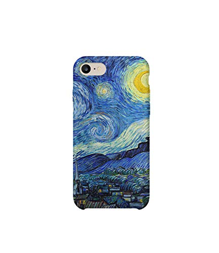 GlamourLab Van Gogh The Starry Night Painting Protective Case Cover Hard Plastic Handyhülle Schutz Hülle for iPhone 8p Plus Regalo di Nat