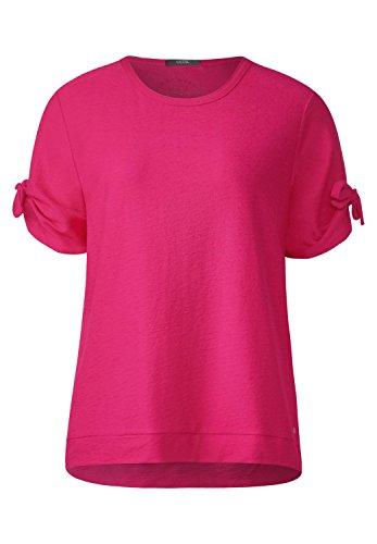 Cecil Damen Strukturiertes Shirt Galaxy Pink M - Strukturierte Baumwolle Shirt