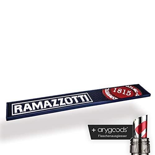 Ramazzotti Barmatte Tresen Abtropf Matte Glas Gläser Gastro NEU + anygoods Flaschenausgiesser