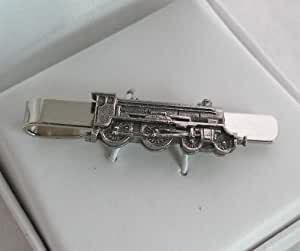 Steam Train Tie Clip (slide) in Fine English Pewter