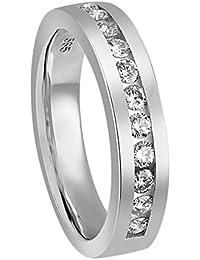 Diamond Line Damen - Ring 585er Gold 11 Diamanten ca. 0,50 ct.