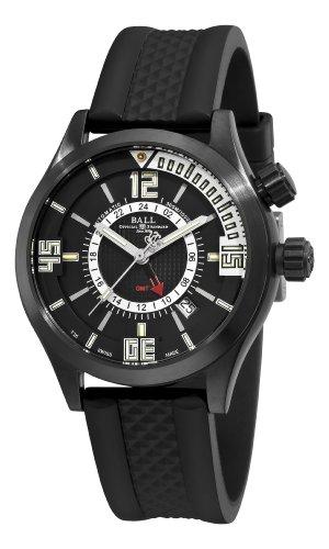 Ball Men's DG1020A-PAJ-BKS Engineer Master II Black GMT Dial Watch