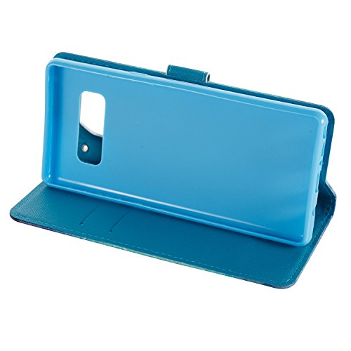 Ooboom® Coque pour iPhone X Housse 3D PU Cuir Flip Cover Étui Wallet Case avec Supporter Fermeture Aimantée Dragonne - Don't Touch My Phone Guimauve