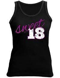 Damen Top Shirt 18 Geschenk Geburtstagsgeschenk Humor Sweet 18 Geburtstag