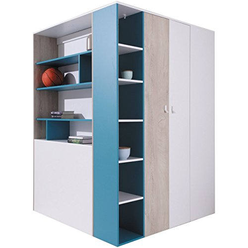 *furniture24_eu Eckkleiderschrank Eckschrank Begehbarer Schrank Planet Jugendzimmer*