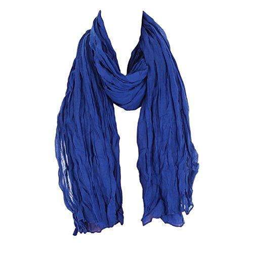 Leichter Damen Schal Nr. 374 viele Farben Blau