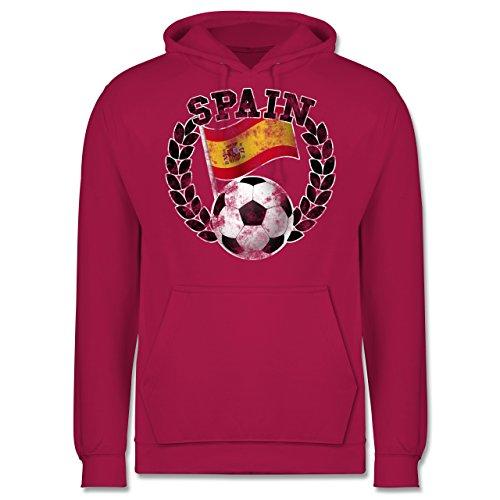 EM 2016 - Frankreich - Spain Flagge & Fußball Vintage - Männer Premium Kapuzenpullover / Hoodie Fuchsia