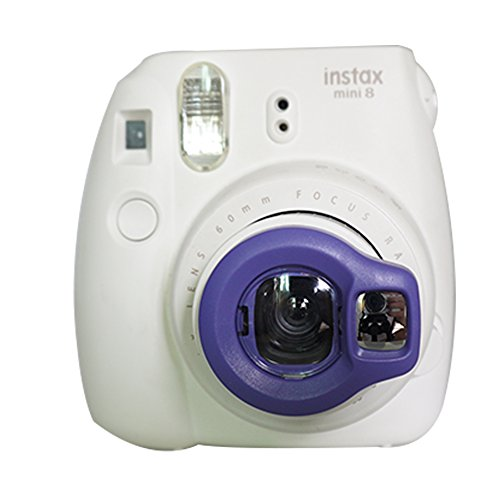 Alohallo-Nahaufnahmelinse-mit-Selbstbild-Spiegel-fr-Fujifilm-Instax-Mini-8-und-Mini-7S-Sofort-Kamera-Lila-A