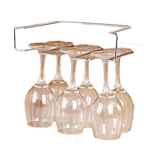 3 reihe umgekehrt hängen Weinglas rack Ohne installation,Edelstahlhalter stielgläser rack unter an...