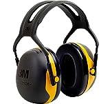 3M X2AC1 Peltor Casque antibruit pour un niveau de bruit jusqu'à 105 dB Serre-tête ajustable - Jaune/Noir