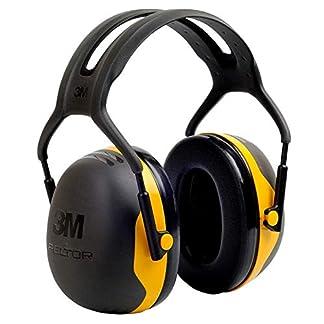3M X2AC1 Orejeras, Negro/Amarillor, 105 dB