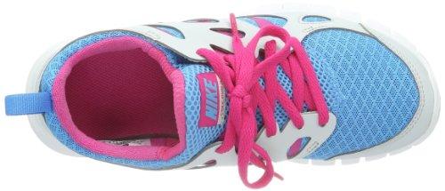 Nike Free Run 2 Gs 477701-401 Unisex - Kinder Low-Top Sneaker Mehrfarbig (Vivid Blue/Vivid Pink/Pure Platinum/White)