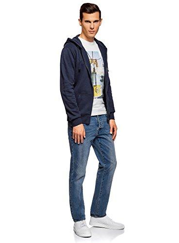 oodji Ultra Uomo Jeans Slim Fit Basic Blu (7400W)