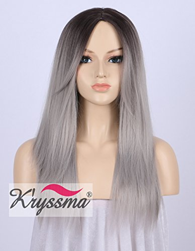 kryssma-dark-rooted-silver-grey-ombre-straight-wig-for-women-high-quality-cheap-hair-long-ladies-wig
