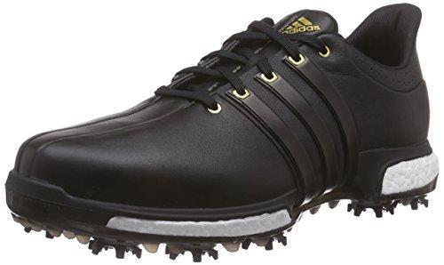 adidas Herren Tour360 Boost Golfschuhe, Black (Core Black/Core Black/Gold Metallic), 44 2/3
