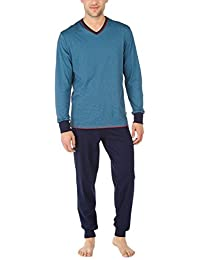 CALIDA Bündchen Brooklyn, Ensemble de Pyjama Homme