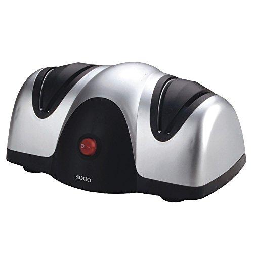 Sogo ACU-SS-13500 Afilador de Cuchillos eléctrico, 40 W, Otro, Negro y Plata