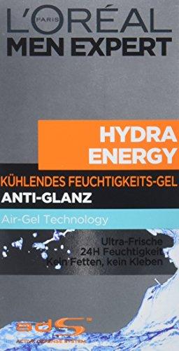 Ansicht vergrößern: L'Oreal Men Expert Hydra Energy kühlende Pflege, 24h Feuchtigkeitscreme mit Anti-Glanz Effekt, 50 ml