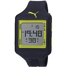 Puma Slide L - Reloj digital con correa de poliuretano unisex, color azul y verde/LCD