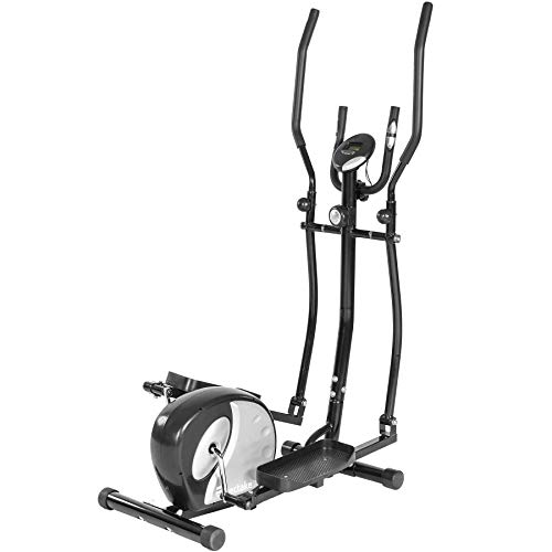 Tectake 401075 ellittica magnetic cross trainer alluminio, nero