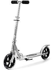 Patinete de 3 ruedas para niños plegable (plateado)