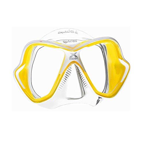Mares Erwachsene Tauchmaske X-Vision Ultra LS, Clear Yeallow, 411052CLYLWCYL Vision Aufbewahrungsbox