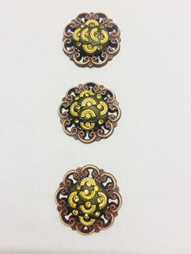 3 Antique Wood Buttons for Kurtis Ethnic Dresses Growns