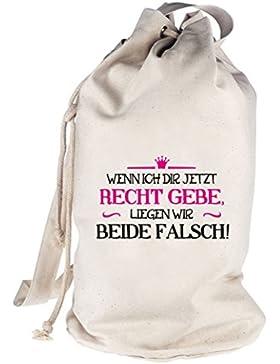 Wenn ich Dir jetzt Recht gebe, bedruckter Seesack Umhängetasche Schultertasche Beutel Bag
