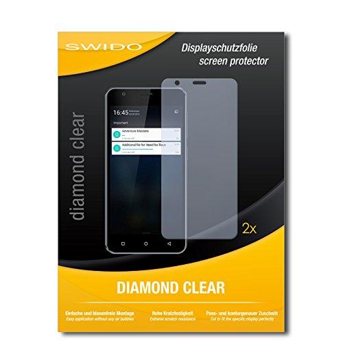 SWIDO 2 x Bildschirmschutzfolie Allview V2 Viper Schutzfolie Folie DiamondClear unsichtbar