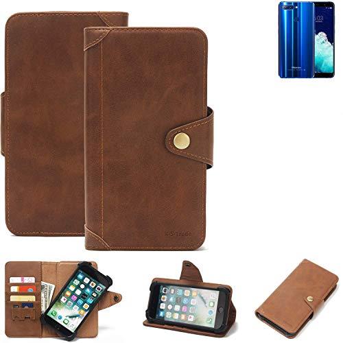 K-S-Trade® Handy Hülle Für Hisense Infinity H11 Pro Schutzhülle Walletcase Bookstyle Tasche Handyhülle Schutz Case Handytasche Wallet Flipcase Cover PU Braun (1x)