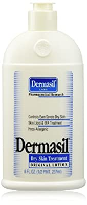 CLINICALLY PROVEN, MAXIMUM ACTION effective Dermasil Dry Skin Treatment - Skin Nourishing Lotion / Nutrient & Vitamin Enriched Lotion - Moisturizing Lotion / Skin Moisturizer, Skin Lipid & EFA Treatment Treatment & Protector for Severe, Extremely Dry Skin
