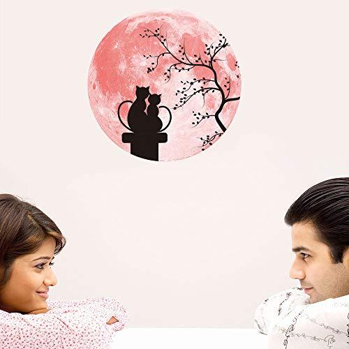 Amphia - 30cm rosa Liebe leuchtender Mond Wandaufkleber.Rosa Liebes-leuchtender Mond-entfernbarer Wand-Aufkleber-Ausgangshochzeits-Dekoration (Leuchtend Stein Rosa)