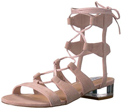 Steve Madden Women's Chely Gladiator Sandal, Pink Suede, 10 M US (Gladiator Madden Steve)