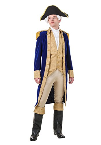 Adult George Washington Fancy dress costume Medium (Kostüm Erwachsene Washington George)
