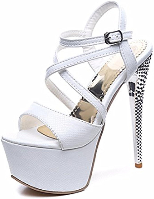 Sandalias para Mujeres, Hebillas, Sandalias, Sandalias, Tacones Extra, Sandalias, Dedos de los pies, Sandalias...