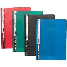 25x A4trasparente colorato + Prong file rapporto progetto presentazione clip cartelle