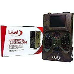 Cámara infrarrojos, cámara trampa, LKM Security® GPRS GSM MMS 12Megapíxeles